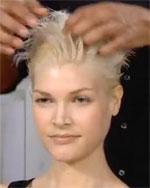 apply gel to hair