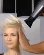 blow dry hair with fingers
