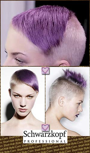 vivid lavender hair color