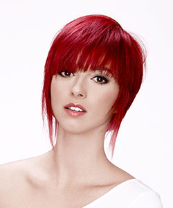 short hair with movement - red intensive