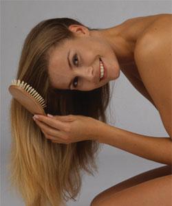 short hair model - woman copper highlight
