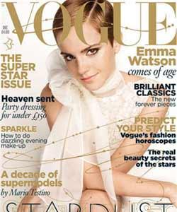 Emma Watson Short hair vogue cover