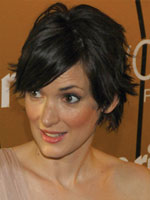 Winona Ryder short hair side view