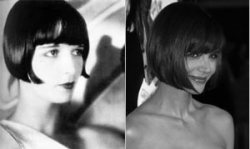 Louise Brooks and Katie Holmes