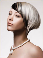 black and smoky platinum blond hair color