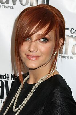 Blonde highlights to ashlee simpson red hair color ashlee with deeper shade of red urmus Gallery