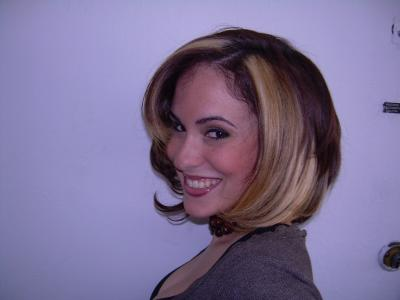 Chin Length Bob Hair Cut with Highlights