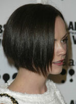 Christina Ricci short sleek hair