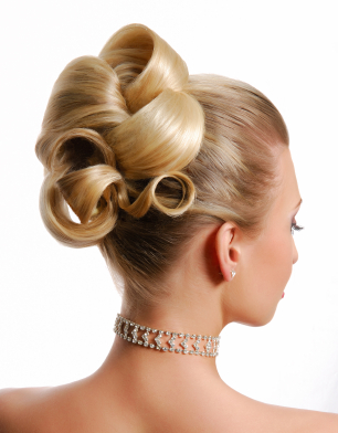 Classic barrel curls updo for wedding junglespirit Choice Image