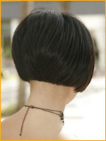 classic short hairstyle back and neck