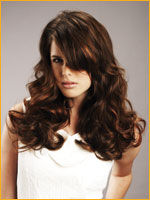 clip-in hair extension with long wavy hair