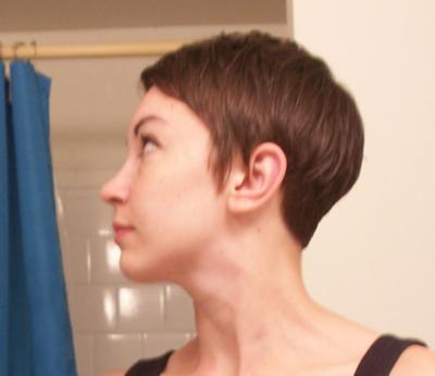 cut short and colored
