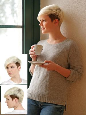 short with side fringe - two toned color
