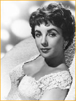 Elizabeth Taylor with short wavy hair