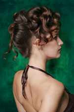 Formal hair style - simple updo back view