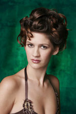 Formal Hairstyle - updo hair front view