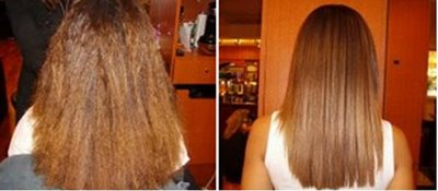 Before and After Global Keratin Treatment