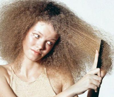 Frizzy dry hair menopause