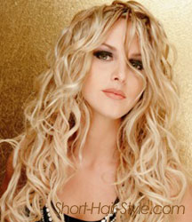 Wavy hair extension for short hair