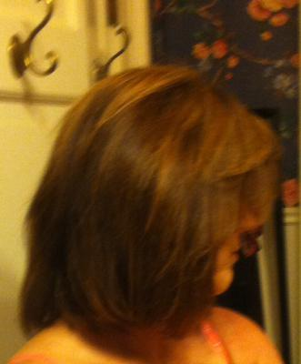 I cut and texturized my own hair cutting over 5