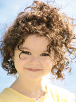 Kid with Curly Hair Style