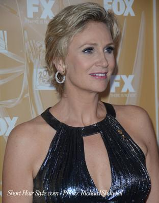 Jane Lynch with short hair -