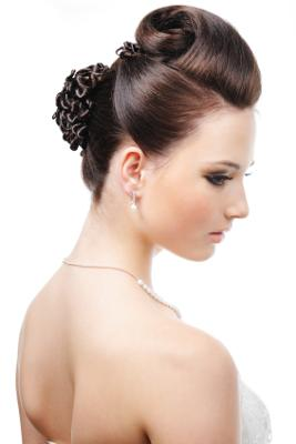 Medium Length Quiff Updo For Wedding