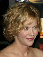 meg ryan with short curly hair