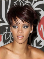 Rihanna with short crop