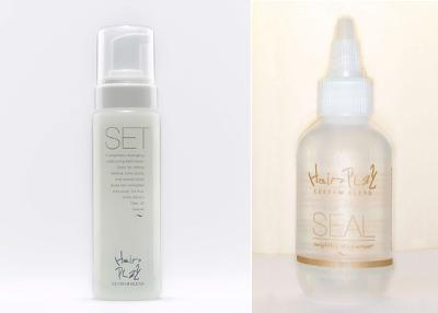 SET and SEAL setting lotion and hair serum