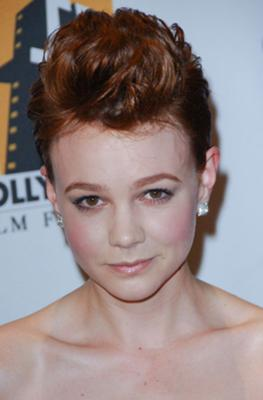 Carey Mulligan with Short Hair Updo in quiff style