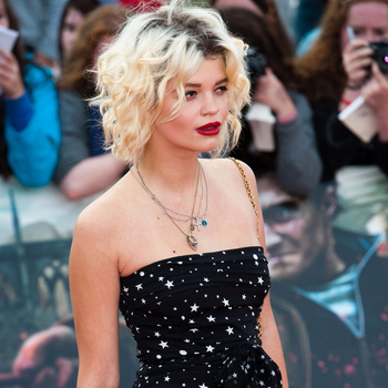 Pixie Geldof with short hair