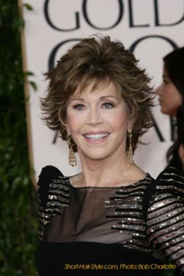 Jane Fonda - Short Tousel Look