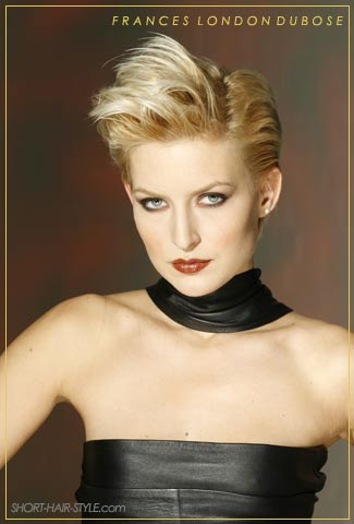 short quiff hairstyle blond hair