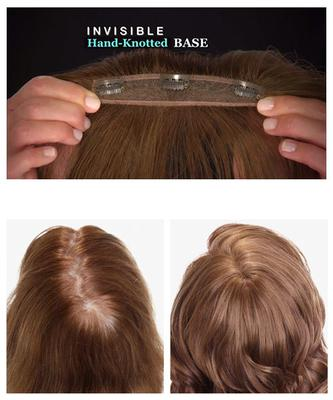 This is a snap in extension with strand by hair strand hand-knotted base  which comes in 13 natural colors. It s made of special synthetic material  that can ... 1f972b4c2