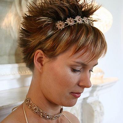 Spiky Look With Headband