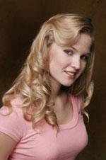long blonde hair with wavy hair