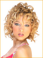 beach hair style with curly hair