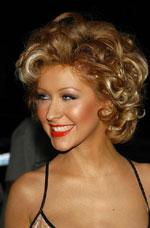 Christina Aguilera with short hair