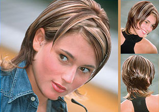 highlights multi tone hair color idea and parting