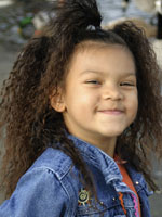 Cute Kid with Afro Hair Style