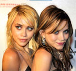 Mary and Ashley Olsen with straight hair 2004