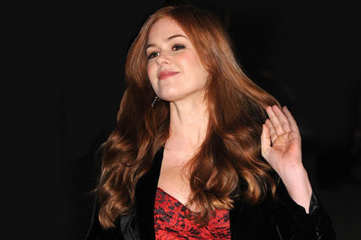 Isla Fisher - dark strawberry gold blond red hair color