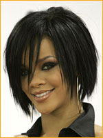 layered hair cut above shoulder