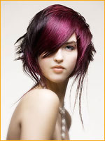 black and violet hair color