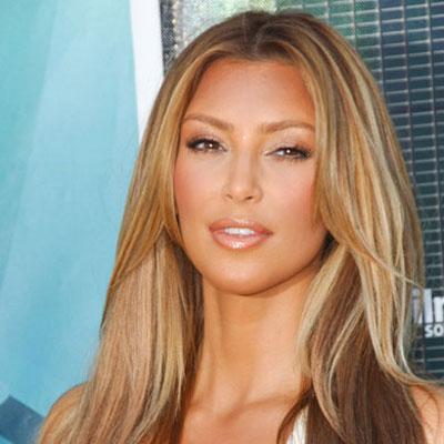 Kim Kardashian With Blond Hair
